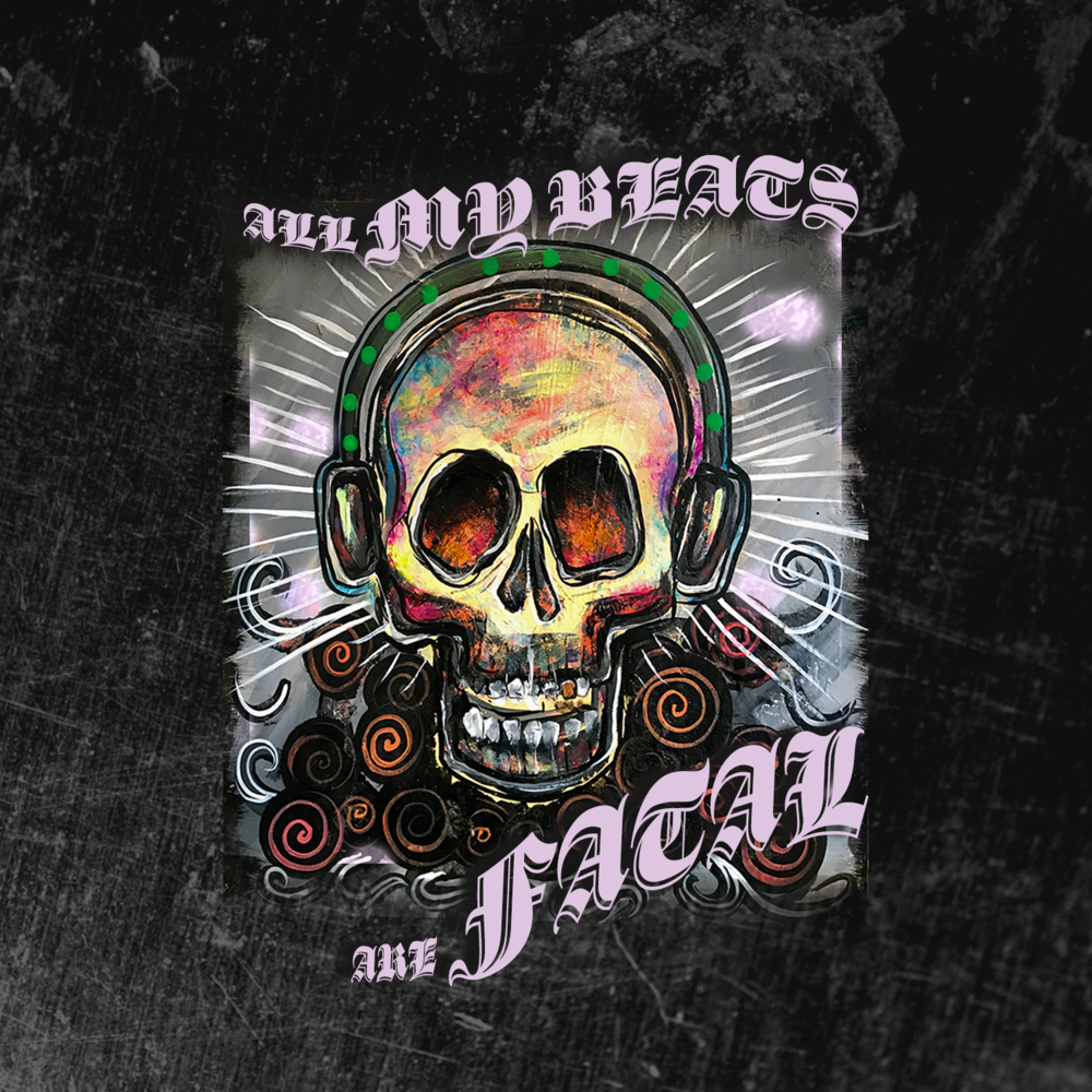 "J. Wakefield Brewing ""All My Beats Are Fatal"" label design development"