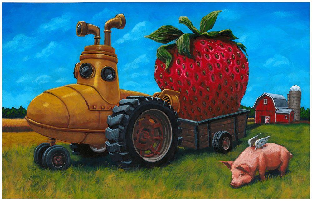 """Strawberry Fields"" Lager illustration by Allen Firlit"