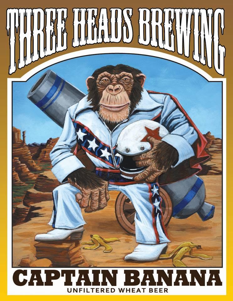 "Final label design, ""Captain Banana"""