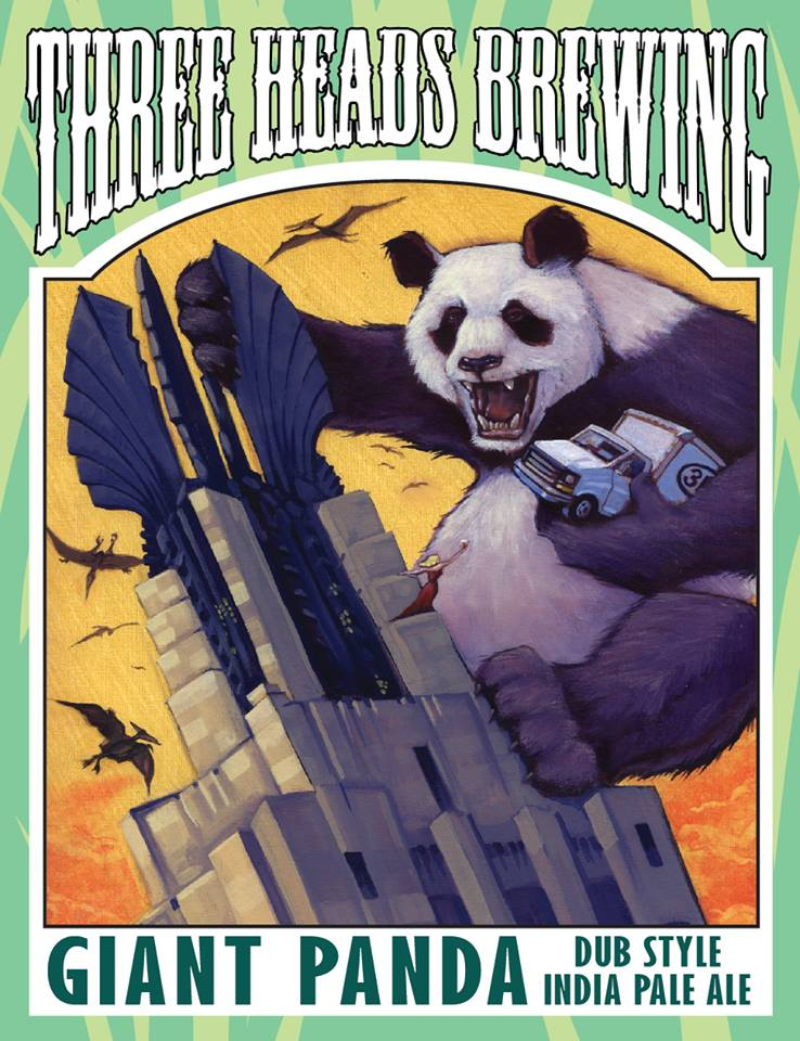 "Label design, ""Giant Panda Dub Style"" IPA"