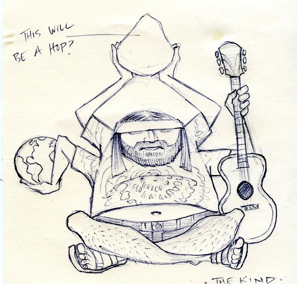 """The Kind"" IPA development sketch by Allen Firlit"