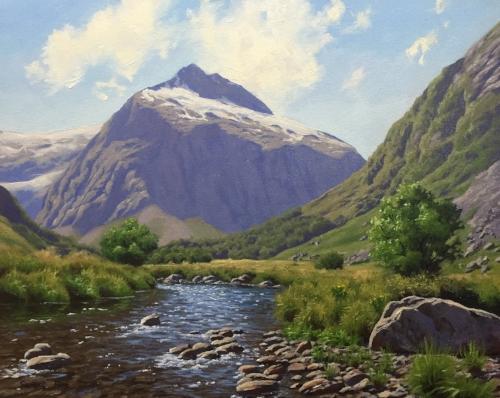 Mt Talbot - Samuel Earp landscape artist