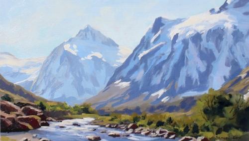 Mt Talbot plein air - Samuel Earp landscape artist