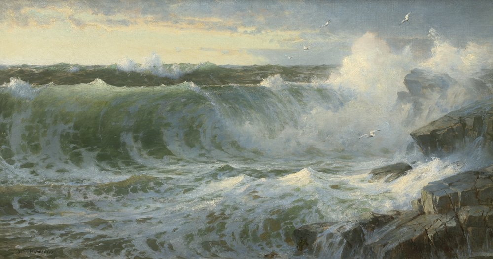 William Trost Richards - Rocky Surf Off Rhode Island