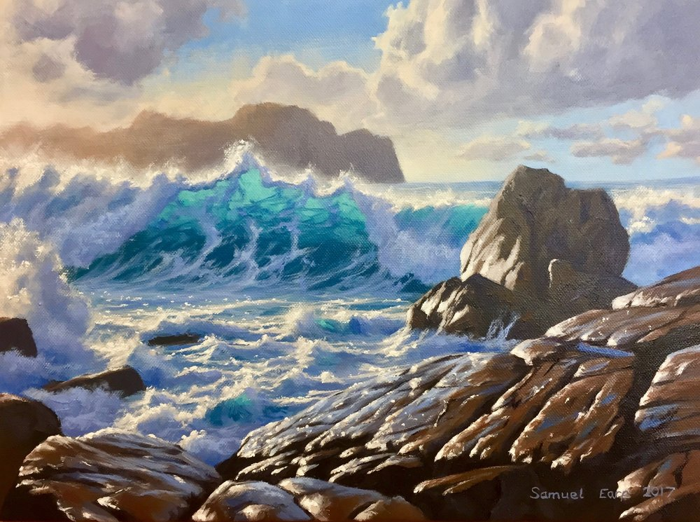 Port Soif Guernsey - Samuel Earp - Seascape - oil painting.jpg