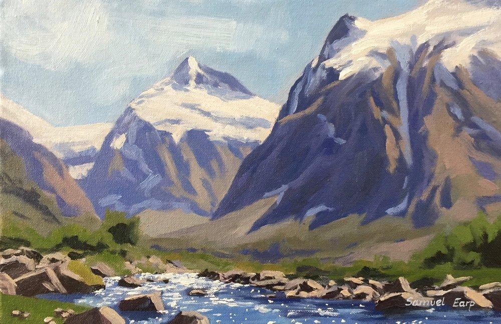 Mt Talbot Fiordland - plein air - Samuel Earp - oil painting - landscape artist.jpg