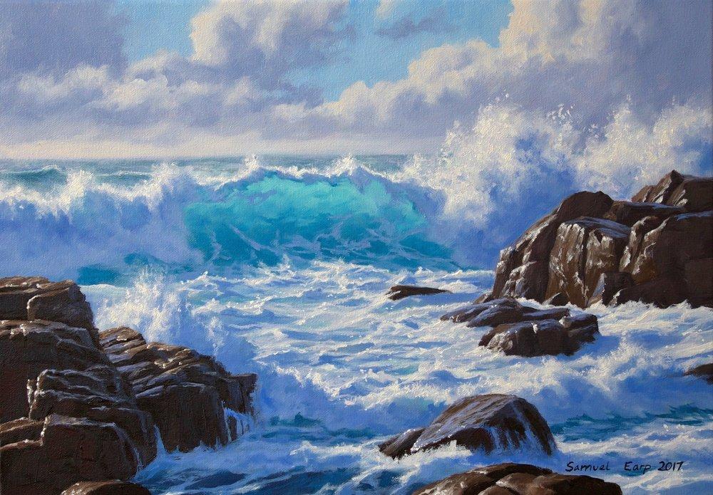 Wild Atlantic Ocean - Samuel Earp - Seascape Artist - oil painting.jpg