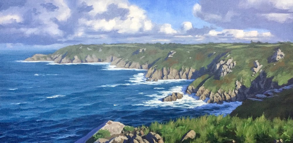 Icart Point, Guernsey, 25cm x 50cm, oil on canvas.