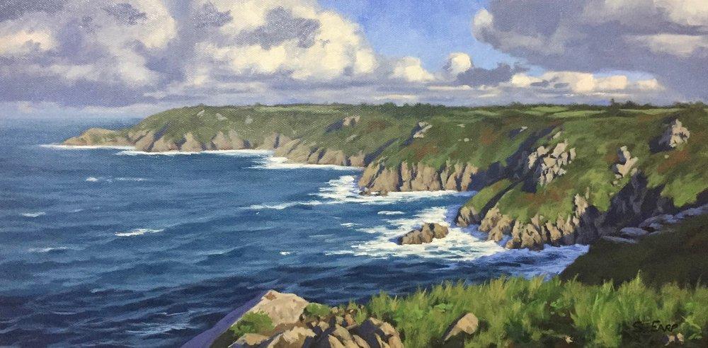 Icart Point Guernsey - oil painting - Samuel Earp - landscape artist.jpg