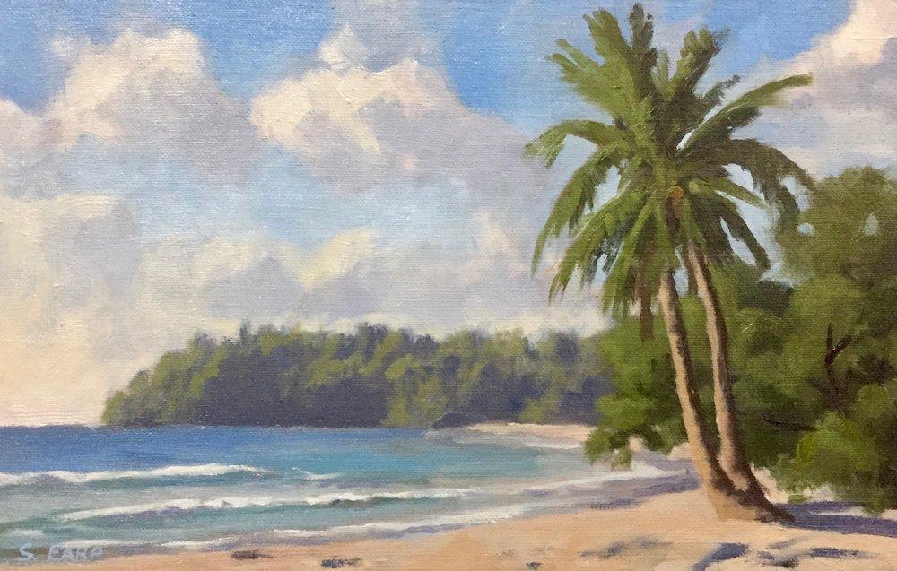 Kata Beach Thailand - palm - plein air - Samuel Earp.jpg