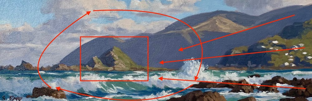 Wellington Coast - small oil painting - Samuel Earp - seascape artist - composition 5.jpg