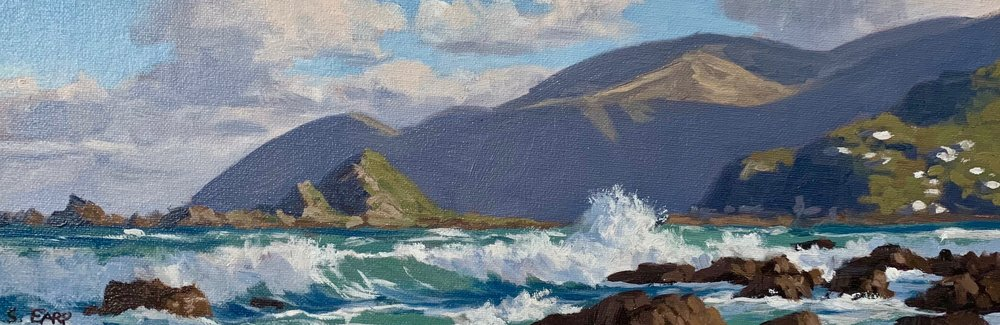 Wellington Coast - small oil painting - Samuel Earp - seascape artist 2.jpg