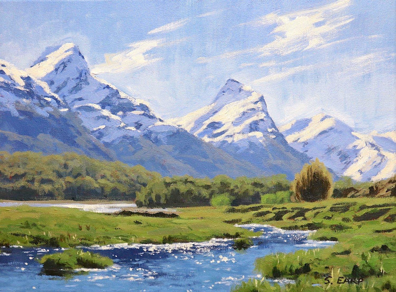 How to Paint a Mountain Landscape in Acrylics — Samuel Earp Artist