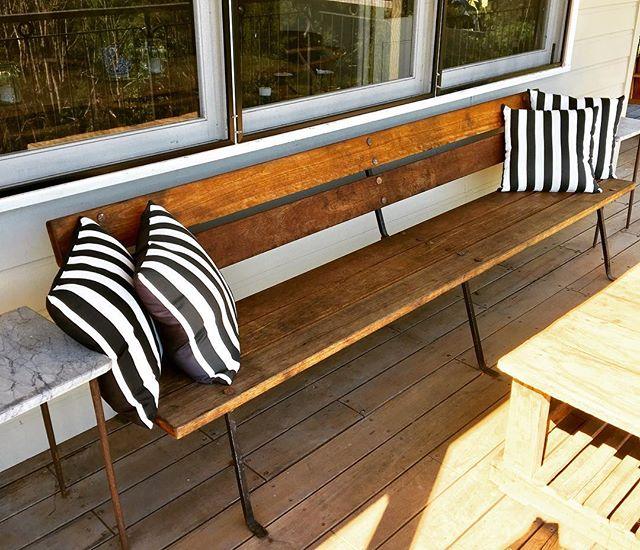 Bangalow Bench.  #byronbay #gardenbench #ironandwood #furniture#outdoorfurniture #gardenfurniture #bespoke