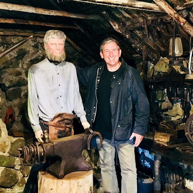Chatting with a local blacksmith on Skye didn't share any of his secrets though