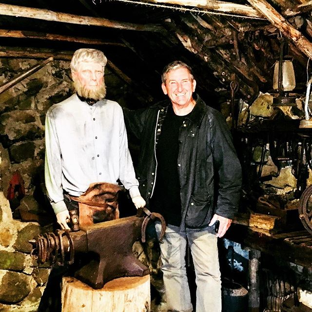 Good catch up with an old Blacksmith on Skye in Scotland