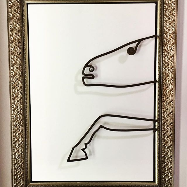 Sketch by Brad Nack ironwork by Ironart  #ironart #art#bradnack#horseart#byronbay#sculpture #sketch
