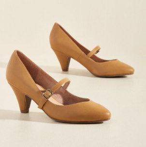 Chelsea Crew Reserved for Rollicking Mary Jane Heel in Dijon - ON SALE CURRENTLY - $44.99