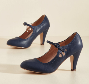 Jive O'Clock Somewhere Mary Jane Heel in Navy - $39.99