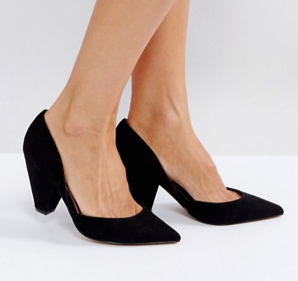 ASOS Sulphur Wide Fit Pointed Heels - £28.00