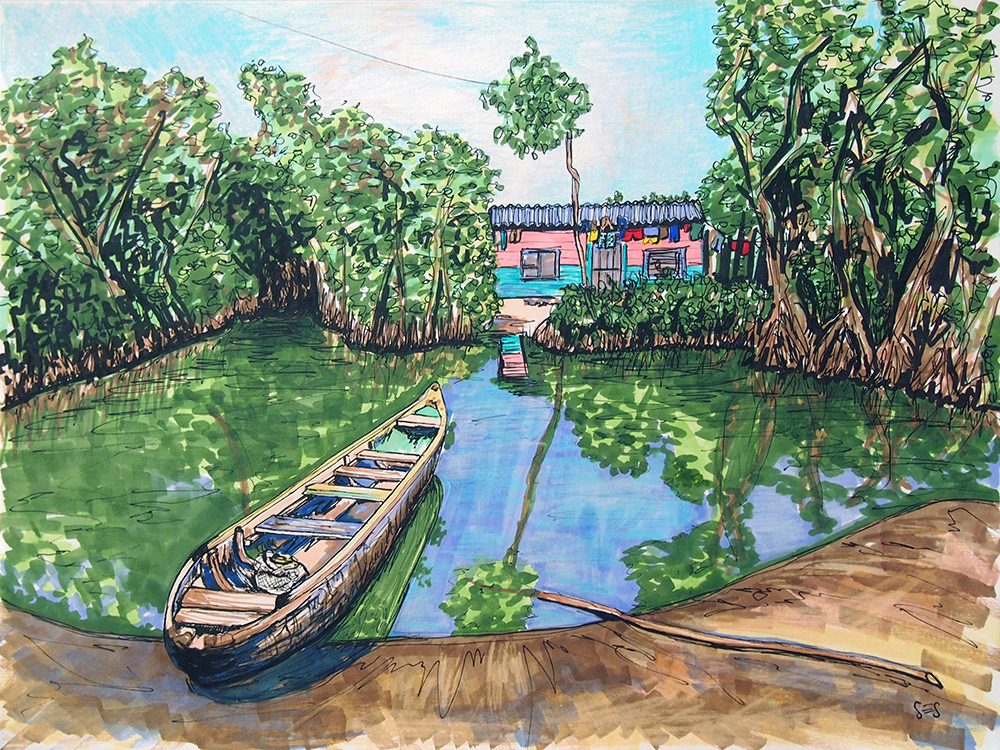 "The Mangroves of La Boquilla, 11""x14"", 2014"