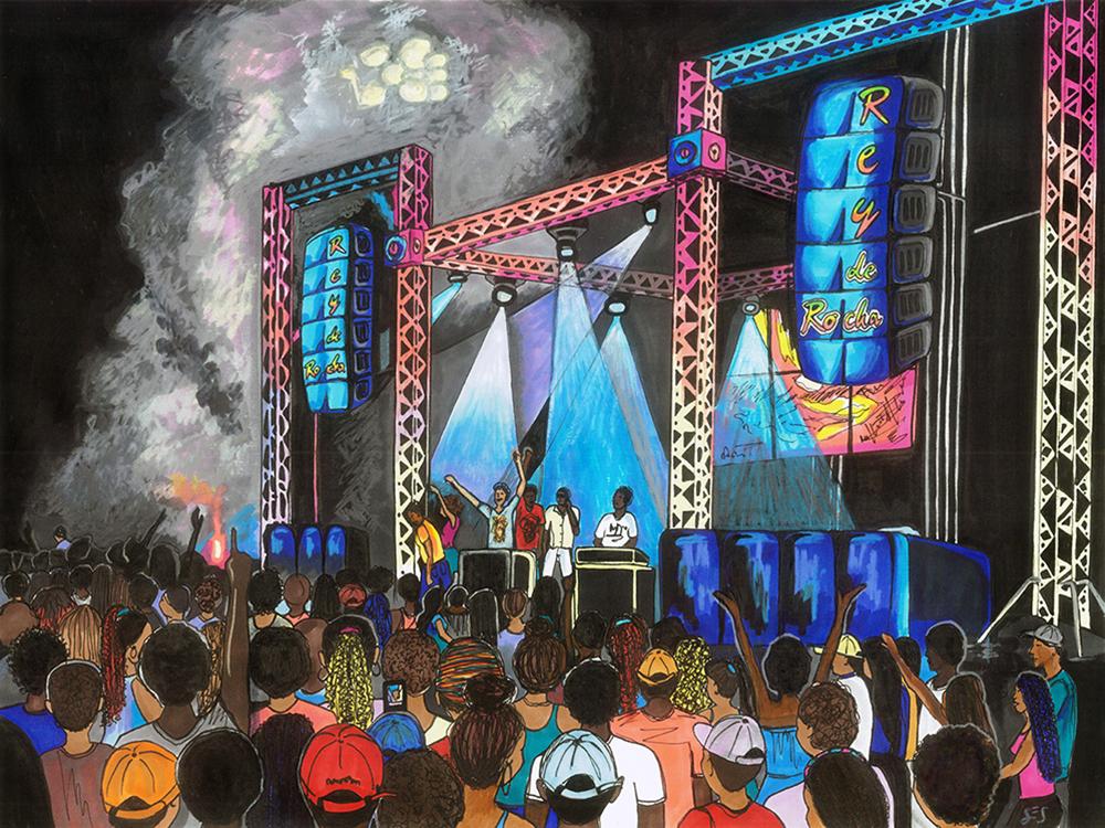 """Rey de Rocha, 11""""x14"""", 2015"""