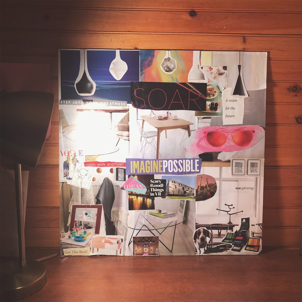 My beloved home office vision board