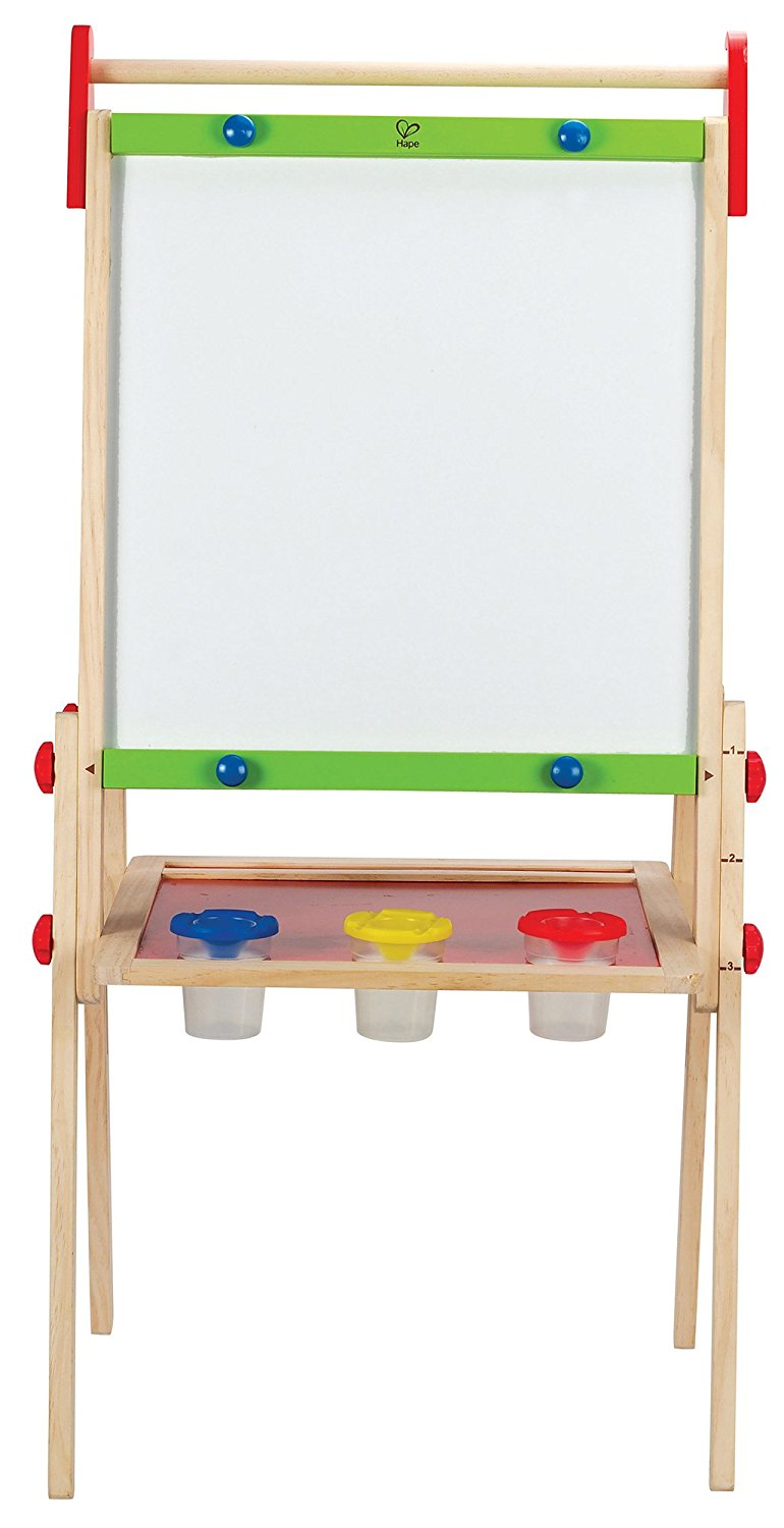 Hape All-in-One Wooden Easel With Paper Roll and Acessories