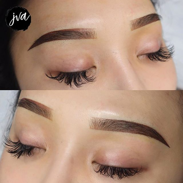 ✨Lauren wanted a combination of Korean brows with a small arch! With her previous unpleasant experience, I made sure she was 110% satisfied on her shape before proceeding! 😊 . . ▪️$350 Powdered Ombré (new brows only) ▪️Additional $50 for coverups/corrections ▪️Brows will last 1-2 years depending on lifestyle ▪️NOT painful! Topical numbing is used ▪️Suitable for anyone who wants a natural look - ideal for all skin types! (dry, combination, oily) ✖️visit jvartistry.com for bookings | text or email for consultations  _______________________________________ $50 nonrefundable deposit is required to secure booking —————————————————