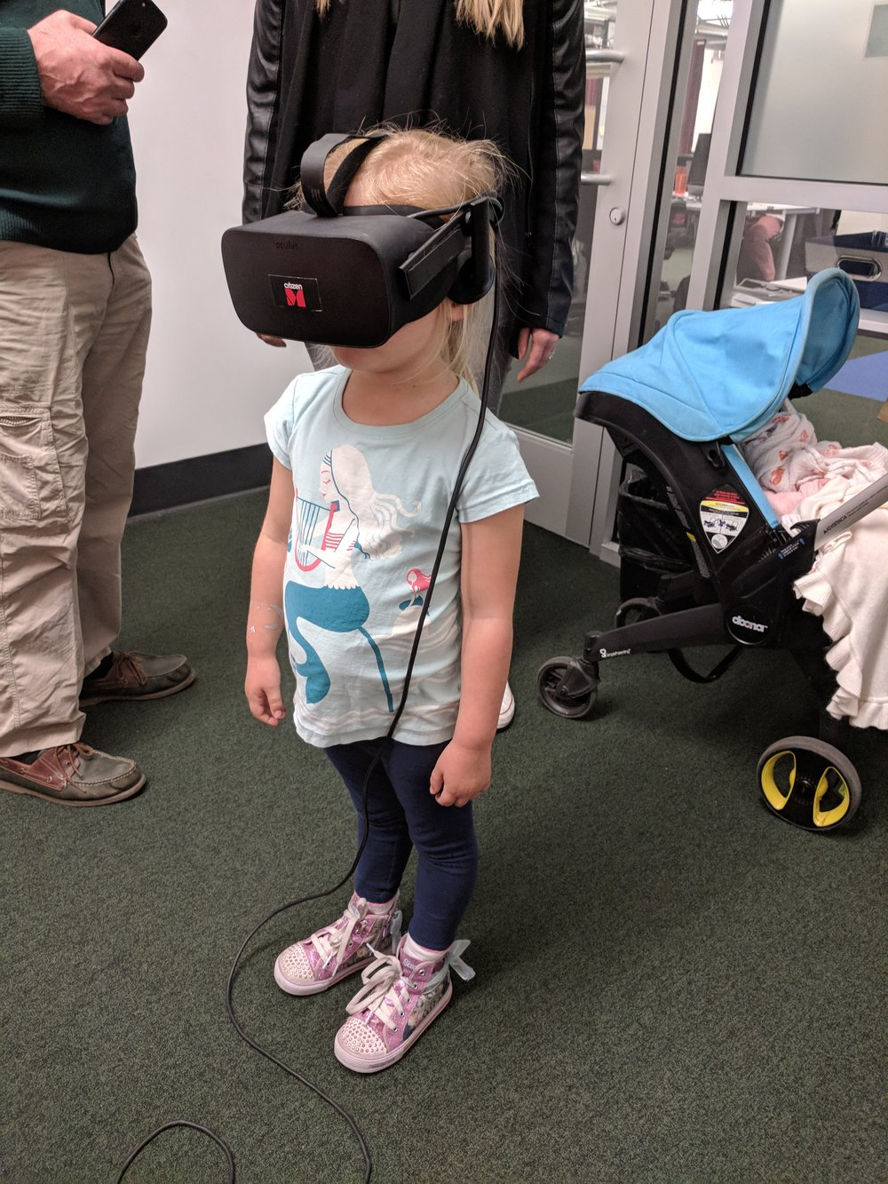 Tom's daughter visiting Boost VC and trying Tribe.