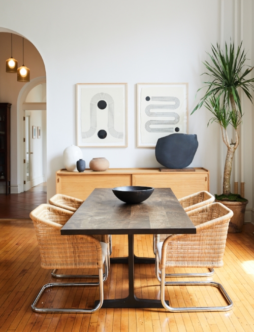 Look How The Woven Chairs Balance Out The Rest Of This Dining Room In A  Brooklyn