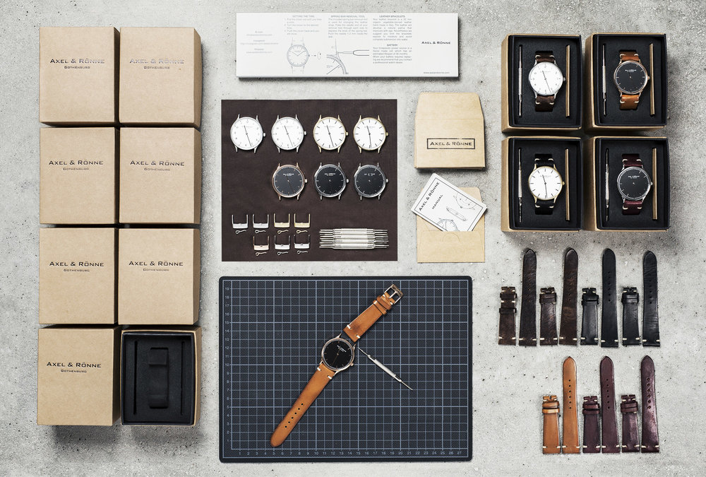 Designed & Assembled in Gothenburg. Straps made in Italy, Swiss Movement