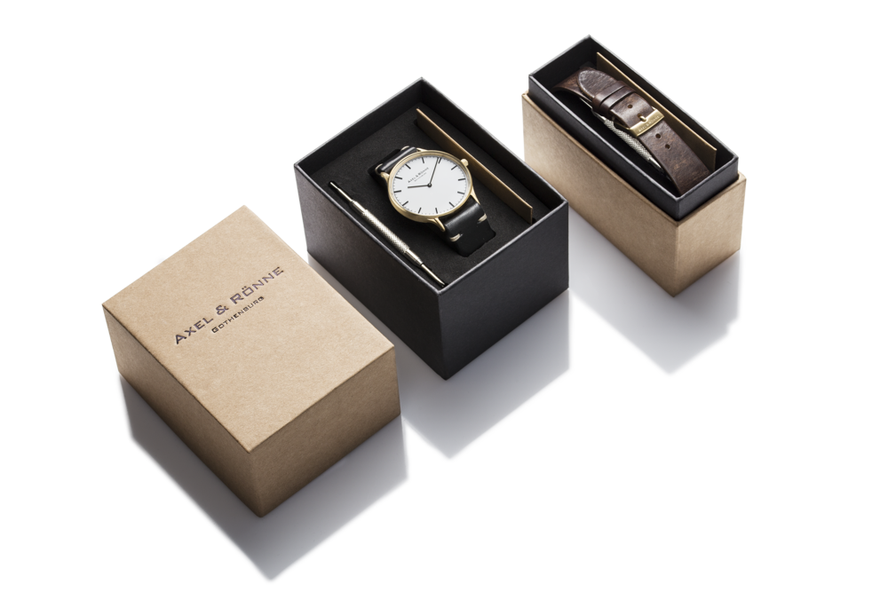Minimalistic watch package design