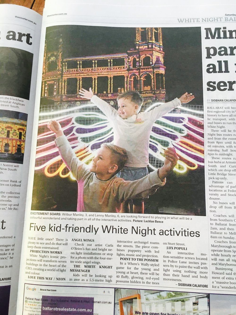 Ballarat The Courier cover story Mar 4.jpeg