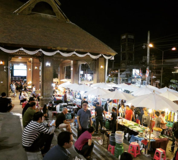 Local market outside of Kad Suan Kaew Plaza