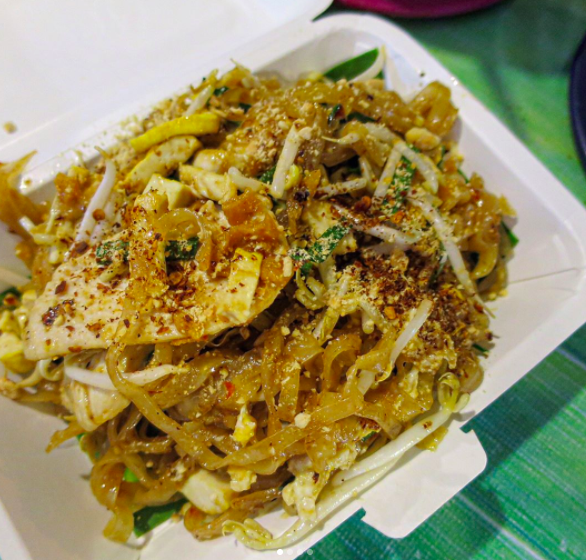 Made to order Pad Thai from the Sunday Walking Street Market