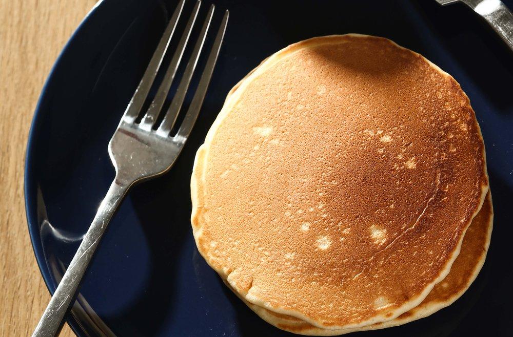 Pancake là một dạng hình khối phẳng.