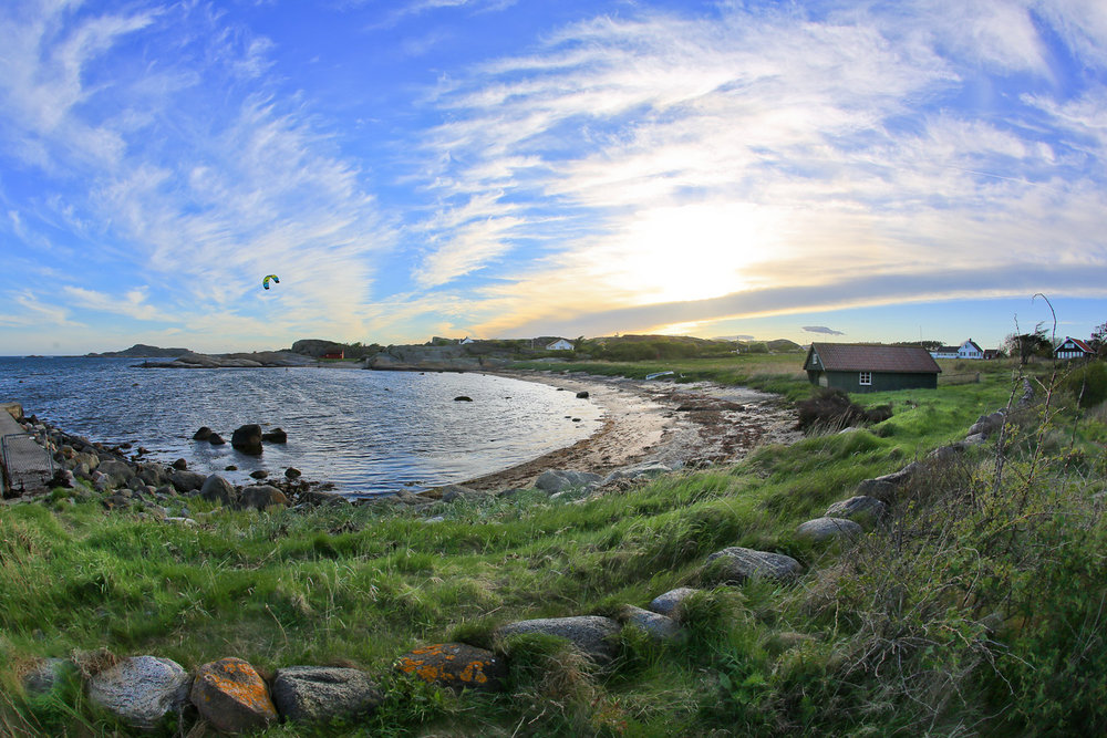 Badestranden Krøkle med gode badeforhold og et yndet sted for kitere og vindsurfere.