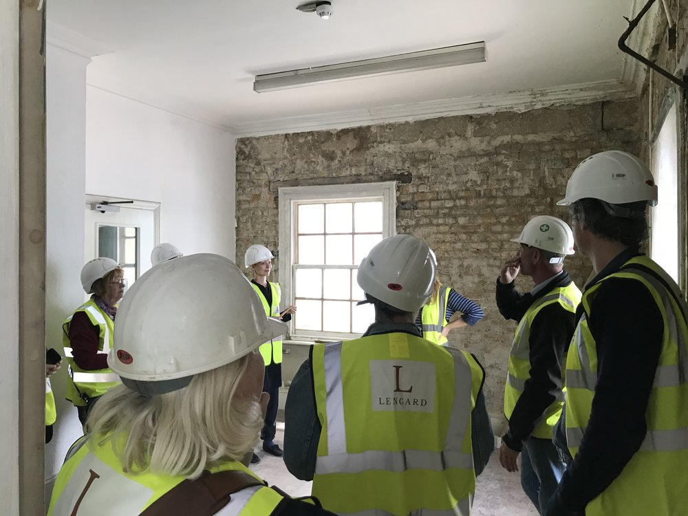 Tours of the building throughout the building project - here we discuss the damage that occurred because of major water ingress.