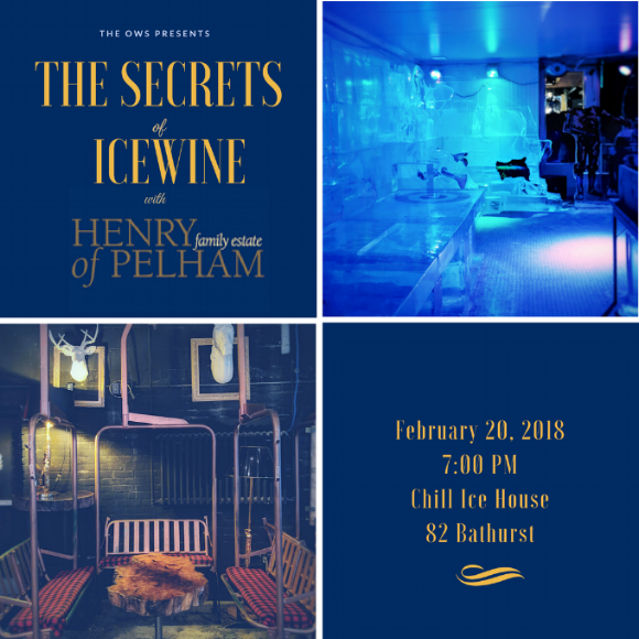 Henry Of Pelham joins the Ontario Wine Society's exclusive Icewine Tasting to share