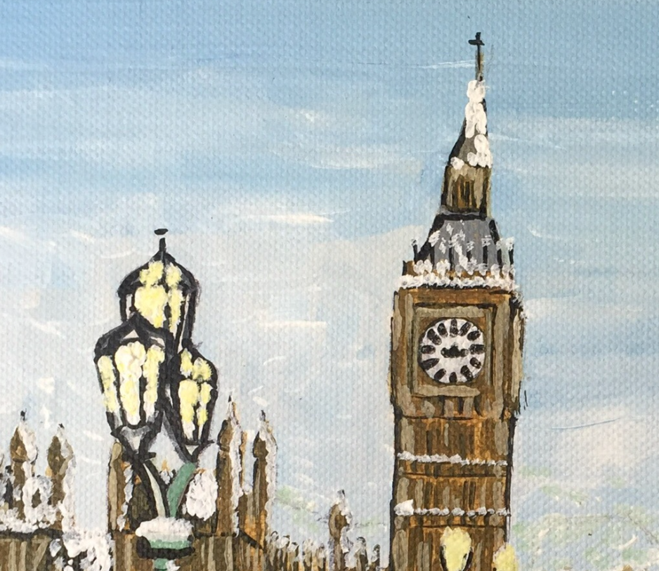 Westminster in the Snow - Elizabeth Kennedy