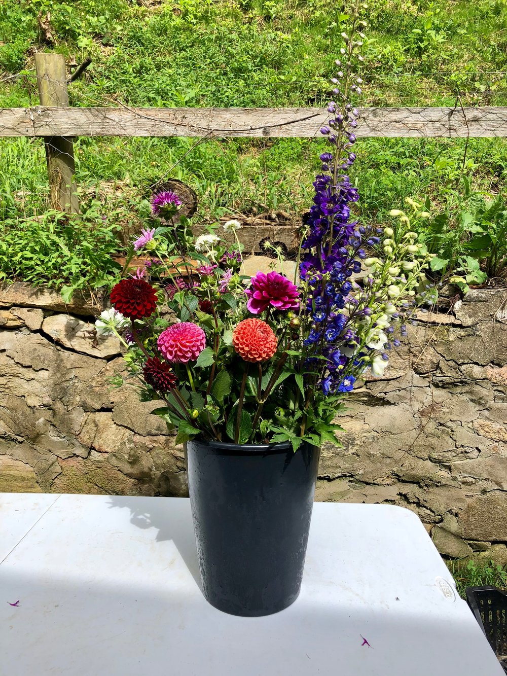 Bulk buckets of flowers