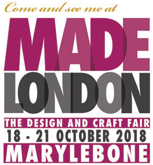 Come and see me at MADE London in Marylebone! - I'm so happy to have been selected to take part in the excellent craft and design fair that takes place annually in the beautiful church at 1 Marylebone, London, NW1 4AQ. It's full on busy with making and preparations, you can visit and see the results from 18th to 21st October.For more information and to buy tickets click on the image.