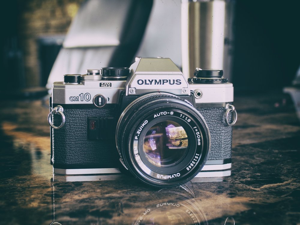 the olympus om10 - this photo taken with an olympus epl7 with adapted visitor 28mm f2.8 lens