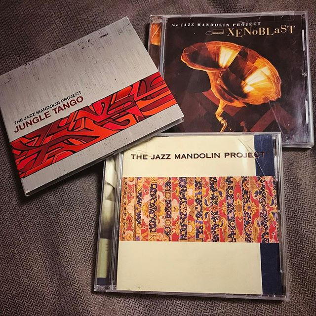 The Jazz Mandolin Project - Jungle Tango, Xenoblast, s/t | Not available on streaming so I had to acquire these CDs after hearing them on @909wdcb and being reminded how great they are. | #cd #jungletango #xenoblast #jazzmandolinproject #thejazzmandolinproject #jamiemasefield #jonfishman #mandolin #jazz