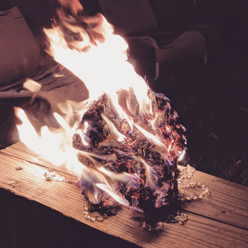 Sometimes costumes catch on fire. Sometimes it's on accident. Sometimes, not.