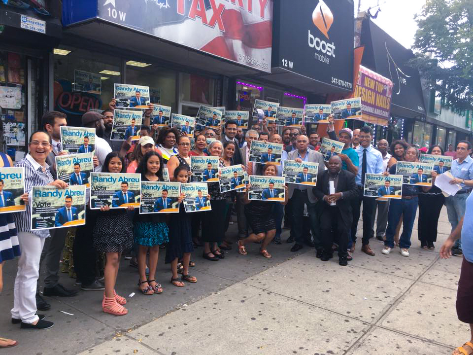 District 14 members in support of Abreu for NYC