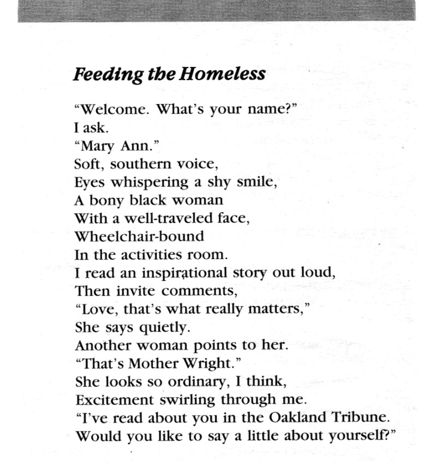 Bellowing Ark , May /June 2010, page 23   Feeding the Homeless