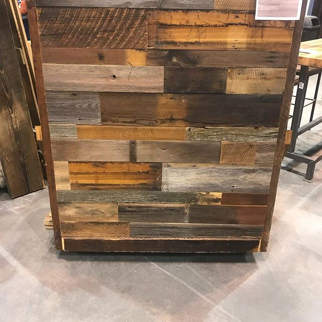 If you missed us at the home show, we debuted a new product over the weekend. BARNWOOD VENEER, we've done all the work for you to have a quick and easy application for accent walls. Sold in bundles of 20 sqft!
