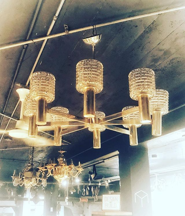 Salvaged fixtures are one of a kind, just like your home. . . . . #blackmarketfurniture #oldmarketomaha #salvaged #salvagecrew402 #repurposed #homedecor #lighting #oneofakind #reuse #lights #shiny #vintage #architectural #antique